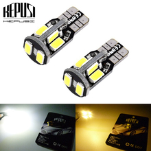 купить 2x T10 194 W5W LED canbus Car Light Auto LED Bulbs Side Marker Wedge Reading Lamp For Ford Mondeo focus3 Fiesta ranger fusion дешево