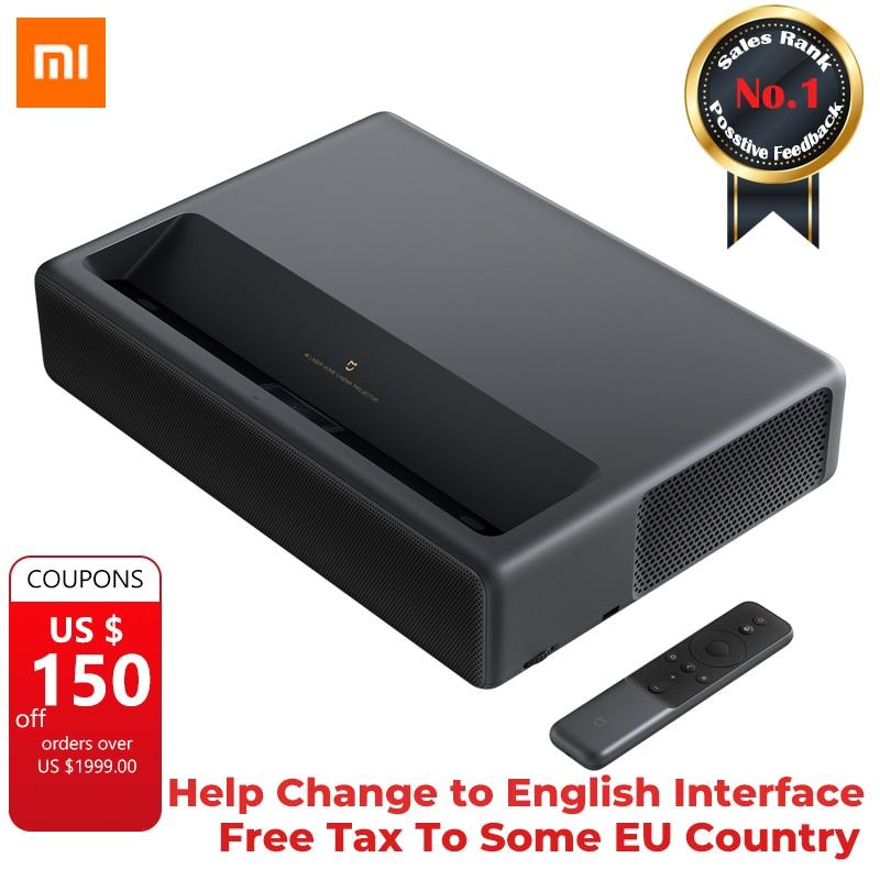 Original 2019 Xiaomi Mijia Laser Projection TV 4K Home cinéma 200 pouces Wifi 2G RAM 16G anglais Interface prise en charge HDR DOLBY DTS
