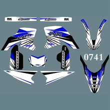 for YAMAHA WR250R 2008 2009 2010 2011 2012 2013 2014 2015 Full Graphics Decals Stickers Custom Number Name Glossy Stickers Kits husqvarna te450 te510 tc450 tc510 2008 2010 year 3m graphics background decals stickers kits dirt bike motorcycle