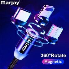 Mагнитный кабель Marjay для быстрой зарядки Micro usb type C кабель для iPhone samsung Xiaomi Мобильный телефон магнитная зарядк