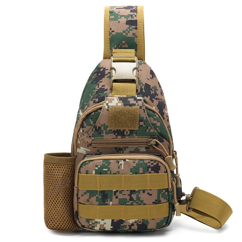 Men's Bag Riding Sports Bag Casual Shoulder Sling Bag Portable Tactical Army Camouflage Pitcher Chest Pack