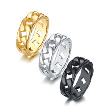 Hip Hop Mens Iced Out Cubic Zircon Bling Round 10mm Ring Gold Silver Color CZ Jewelry Rings Gifts