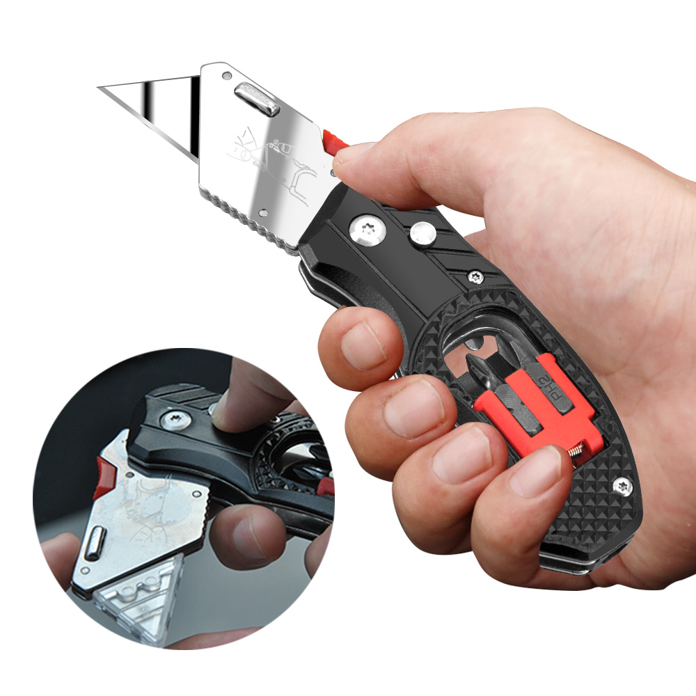 KSHIELD Multitool Folding Knife Electrician Pipe Cutter Utility EDC Cable Screwdriver Kit Bits Pocket Tool Knives