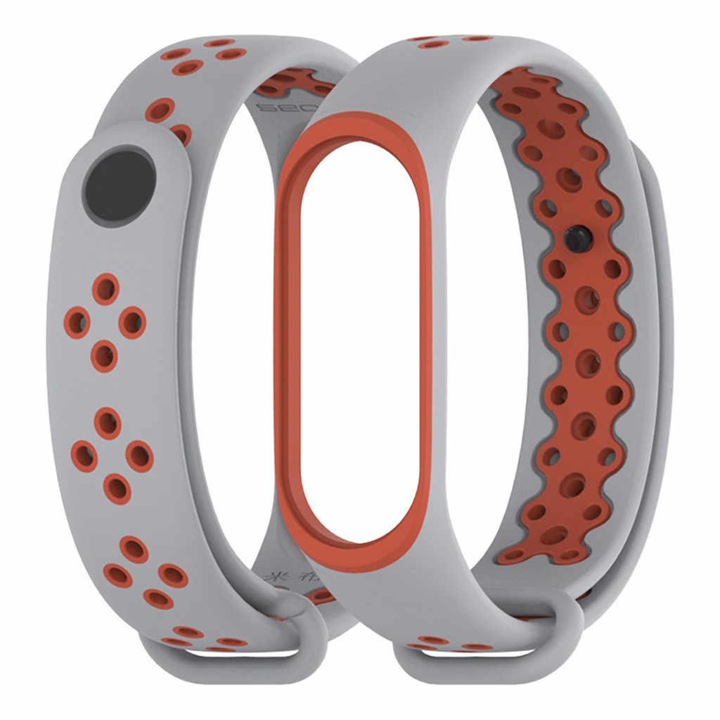 Pulseiras de relógio de silicone para xao mi xio mi banda 4 pulseiras de relógio de montre estilo esportivo moda pulseiras de reloj