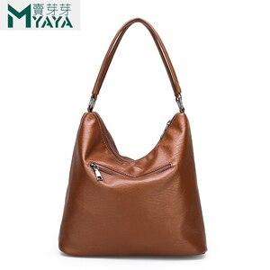 Image 4 - Maiyaya 브랜드 부드러운 pu 가죽 여성 핸드백 대용량 어깨 가방 고품질 디자이너 숙녀 손 가방 여성 2019