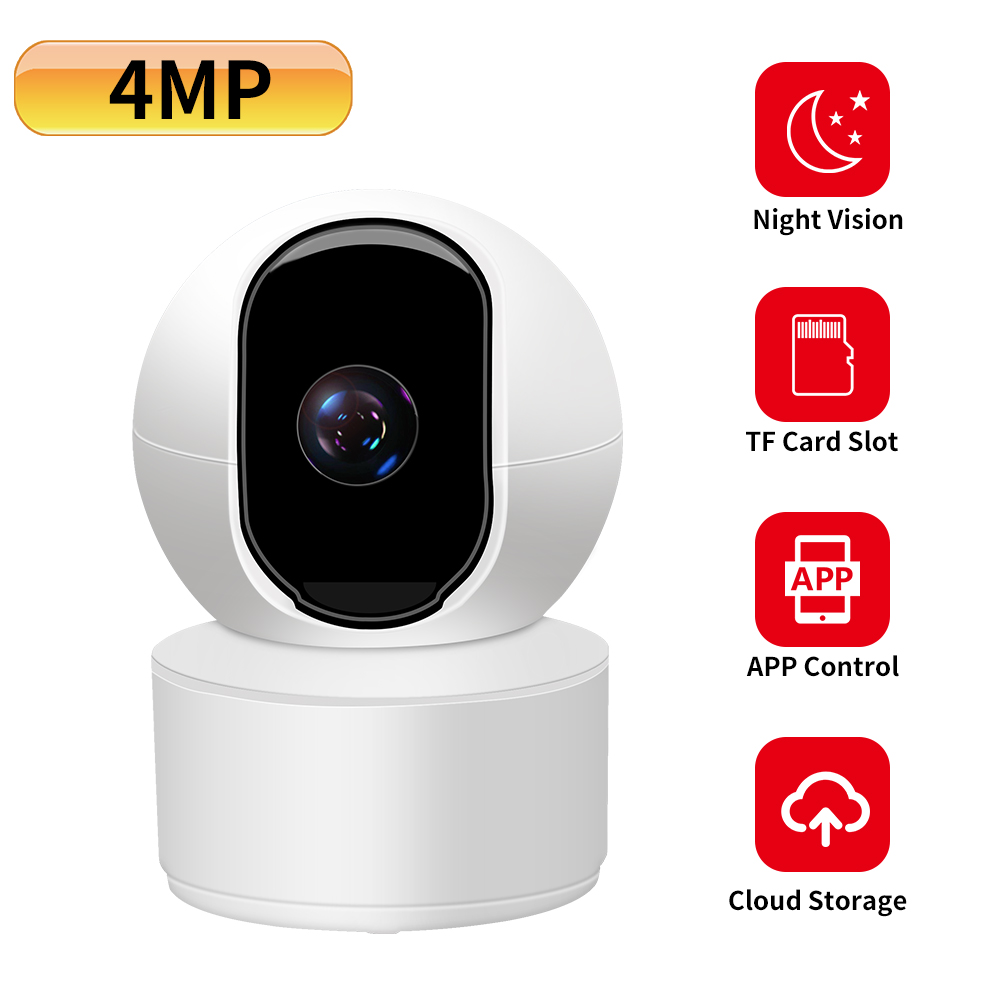 N_eye 4mp Mini Dome IP Camera Starlight Built-in MiC CCTV Camera Wifi Camera 2-way Audio Baby Monitor Indoor Smart Cam Ip Camera