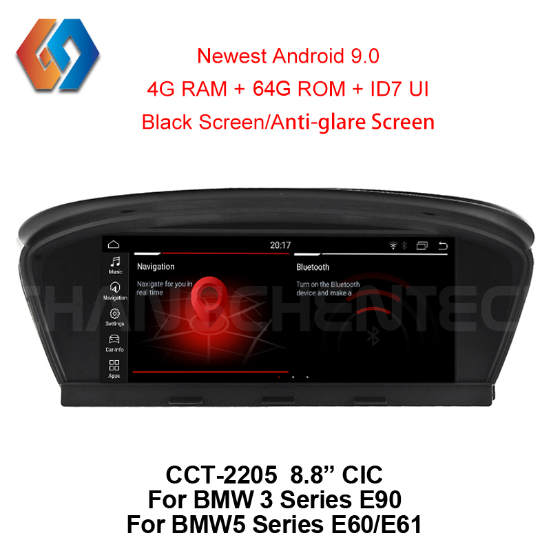For <font><b>BMW</b></font> E60 <font><b>E90</b></font> Car Multimedia GPS Navigation <font><b>Android</b></font> 9.0 64G WiFi BT Multi-point Touch Screen Phone Mirror CIC System Nav Unit5 image