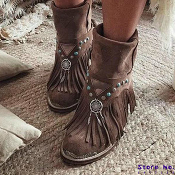 women ankle boots chunky low heels ladies chaussure vintage PU leather gladiator tassels shoes woman zapatos mujer sapato HP2245 women knee high boots ladies chaussure gladiator booties winter autumn high heels slip on shoes woman zapatos mujer sapato h341