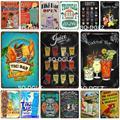 Металлическая табличка для коктейлей и баров, металлический винтажный декор для паба и бара, Оловянная табличка, плакат, домашний декор, худ...