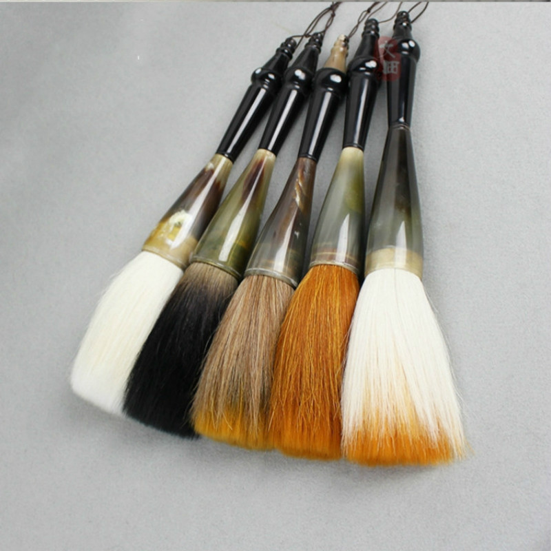 Caligrafia Calligraphy Brush Oversized Chinese Ox Horn Bear Hair Brush Pen For Chinese Painting Couplet Writing Tinta China