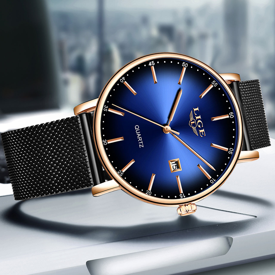 H89b8b5dc97564067ad50f435c76bff73N LIGE Fashion Mens Watches Top Brand Luxury Blue Waterproof Watches Ultra Thin Date Simple Casual Quartz Watch Men Sports Clock