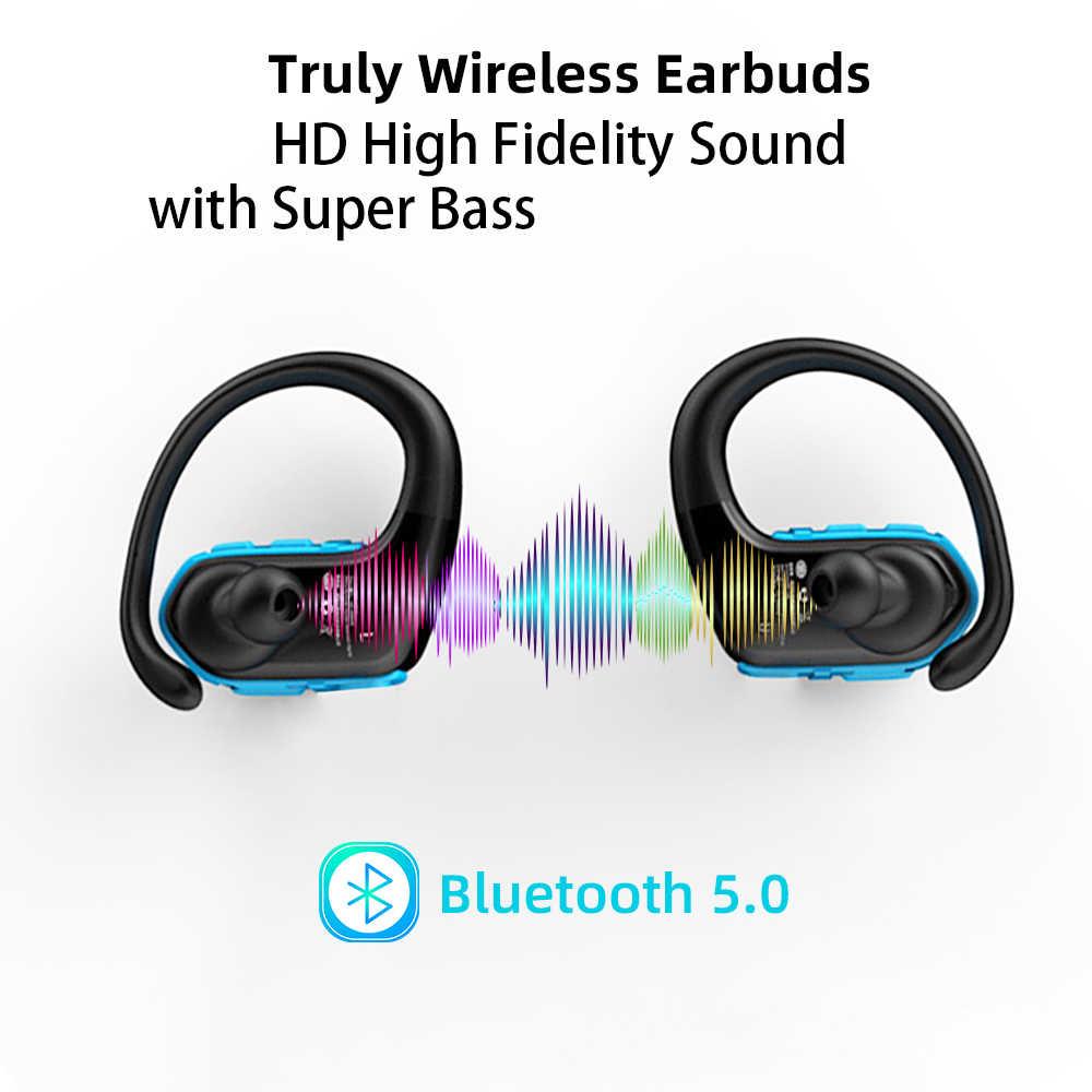 Ralyin M9 TWS Bluetooth イヤホン真ワイヤレスイヤフォン 10 時間音楽の bluetooth 5.0 ワイヤレスイヤホン sweatproof スポーツヘッドホン