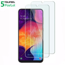 5Pcs Tempered Glass For Samsung Galaxy A50 Screen Protector 9H 2.5D Phone On Protective Glass For Samsung A50 Glass