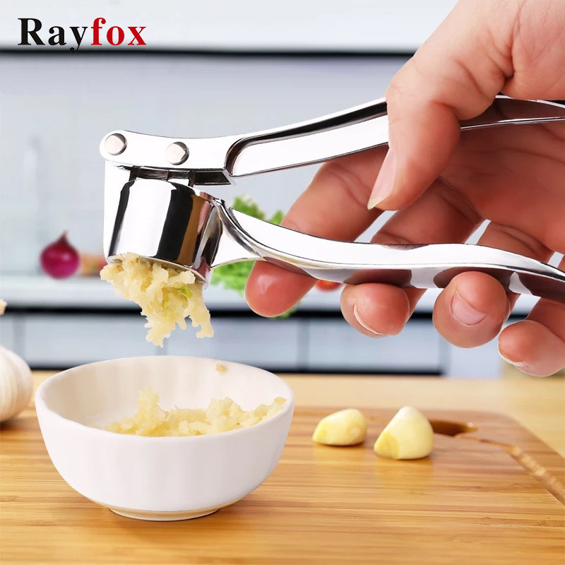 Imitating Stainless Steel Garlic Press Crusher Kitchen Cooking Vegetables Ginger Squeezer Masher Handheld Ginger Mincer Tools(China)