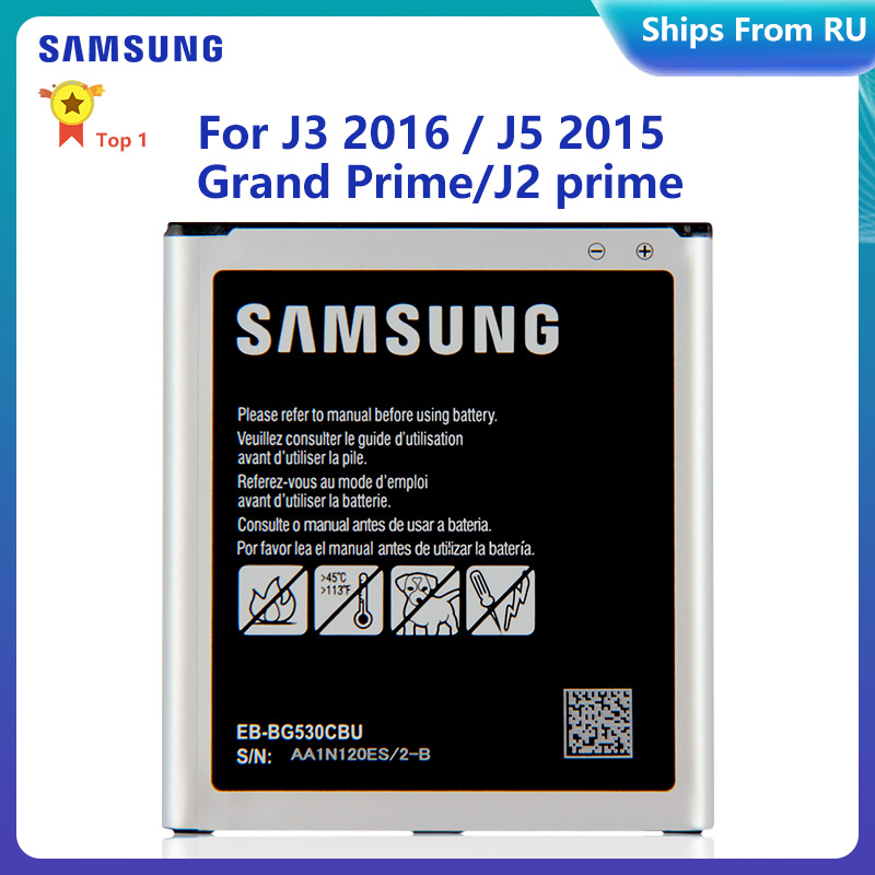 SAMSUNG Bateria EB-BG530CBU EB-BG531BBE para Samsung Galaxy Grande Prime SM-G531H J3 2016 J320F J5 2015 J2Prime J2Core J250F G530H