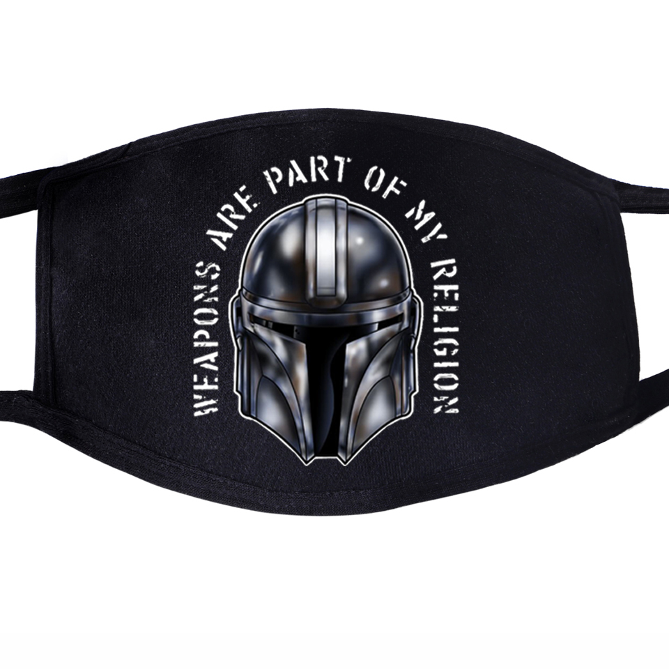 The Mandalorian This Is The Way Star Wars Baby Yoda Mouth Mask Unisex Mouth Black Half Anti Dust Quarantine Face Masks Men Women
