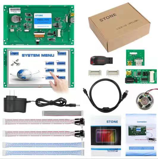 7.0 Inch HMI TFT LCD Display Programmable Logic LCD Controller Touch Screen For Equipment Use Customize Available
