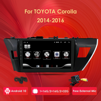 Car Radio Multimedia Video Player Navigation For Toyota Corolla 2013 2014 2015 Stereo Audio 4G WIFI BT SWC OBD2 AM FM DVR DTV SD image