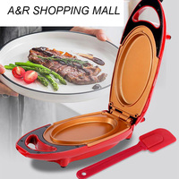 110V/220V Non stick Electric Crepe Maker Pizza Pancake Baking Pan Griddle Chinese Spring Roll Pie Frying Steak Cooker Roaster