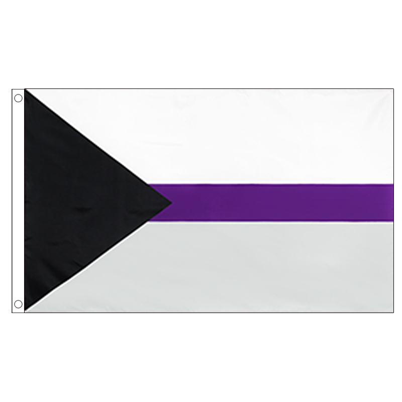 free shipping xvggdg LGBT 90*150cm Community Demi Asexuality <font><b>asexual</b></font> <font><b>pride</b></font> demisexual <font><b>Flag</b></font> banner image