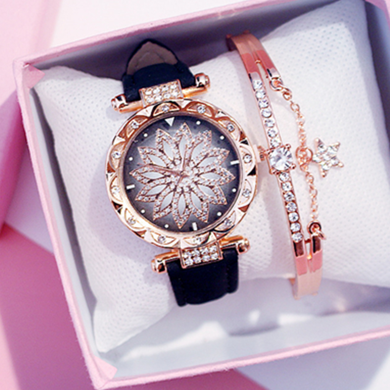Luxury Women Watches Ladies Bracelet Watch Starry Sky Clock Hot Sale Fashion Diamond Female Quartz Wristwatches Relogio Feminino