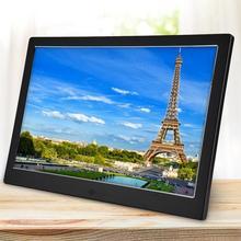 Алюминиевый сплав 12 дюймов светодиодный HD 1080P полнофункциональная цифровая фоторамка электронный альбом цифровое изображение музыка вид
