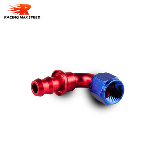 Image 2 - car accessories intercooler Aluminum FITTING Push On Hose Ends Pipe AN6 fitting
