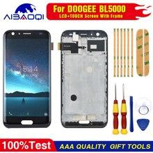 חדש מקורי עבור DOOGEE BL5000 מסך מגע LCD תצוגת Digitizer עצרת עם חלקי חילוף מסגרת + כלי
