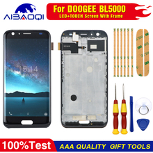 New original For DOOGEE BL5000 Touch Screen LCD Display Digitizer Assembly With Frame Replacement Parts+Tool