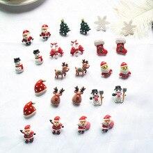 Santa Claus Christmas Tree  Cute Animal Earrings Tiny Deer Stud New Year Gift 2020 Style Earring
