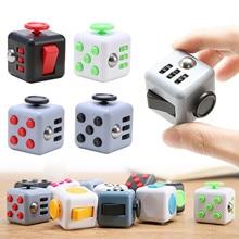 12 cores squeeze presentes alívio do estresse cubo alivia ansiedade e stress juguet para adultos crianças cubo mesa brinquedos de rotação