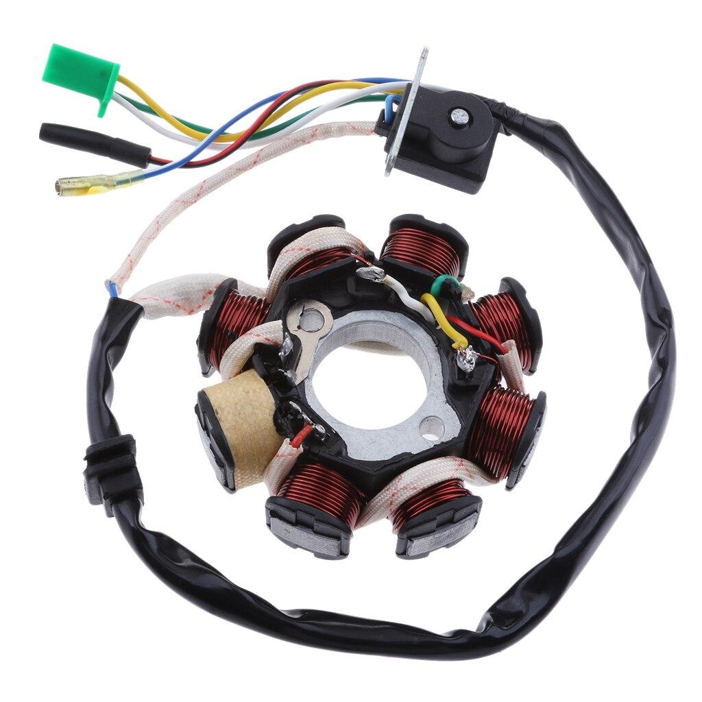 8 מוט גלגל מכון מגנטו הצתה סליל הרכבה עבור GY6 125 150cc סקוטר טרקטורונים