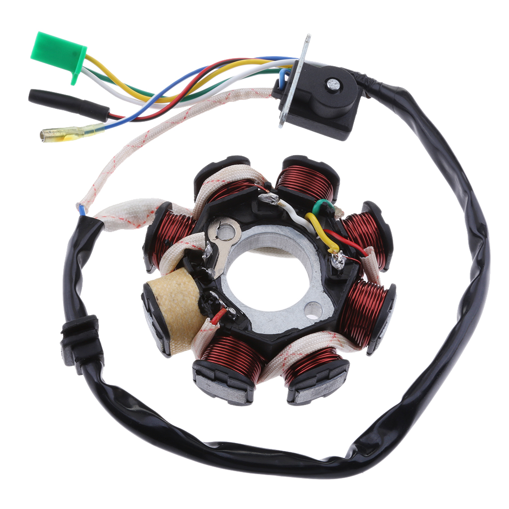 8 estator de polo Magneto conjunto de bobina de encendido para GY6 125 150cc Scooter ATV