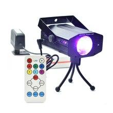 IR Remote Control Mini Club Disco Lights DJ Projector Stage Laser Light Patry Blue Green Red Music Control Function US / EU Plug
