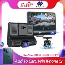 E ACE B28 רכב Dvr מצלמת דאש 4.0 אינץ וידאו מקליט אוטומטי מצלמה 3 מצלמה עדשה עם מצלמה אחורית Registrator dashcam DVRs