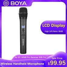 Boya BY-WHM8 pro microfone de mão uhf sem fio transmissor microfone dinâmico unidirecional para o filme estágio eng BY-WM8 pro receptor