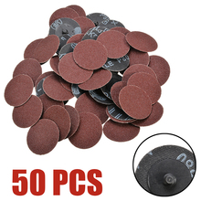 50 шт. 80 Грит Roloc рулонный замок шлифовальная накладка 2 дюйма 50 мм Шлифовальные диски для абразивных инструментов