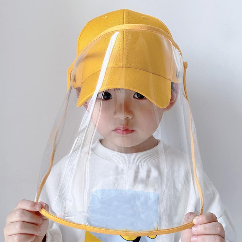 Fashion Kids Anti-saliva Dustproof Face Cover Mask Peaked Cap Cap Children Kids Protective Visors Hat