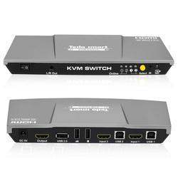 KVM SWITCH 4K 60Hz HDMI Switch kvm Tesla intelligente HDMI KVM Interruttore di Sostegno 3840*2160/4K * 2K e Porte USB 2.0 Tastiera e mouse