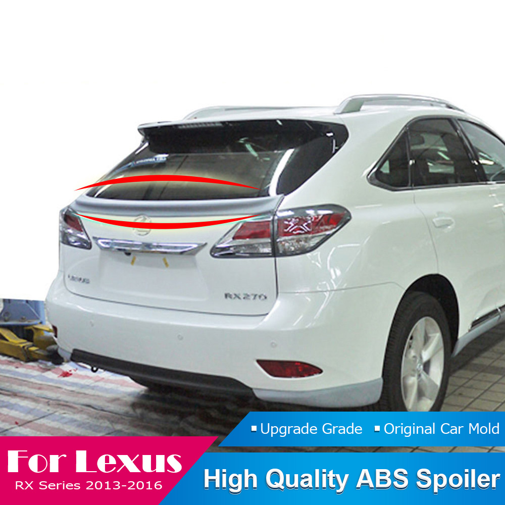 Fit For Lexus RX Series <font><b>RX200</b></font> RX270 RX350 Spoiler 2013 to 2016 Tail Spoiler ABS Plastic Rear Trunk Wing Boot Cover Spoiler image
