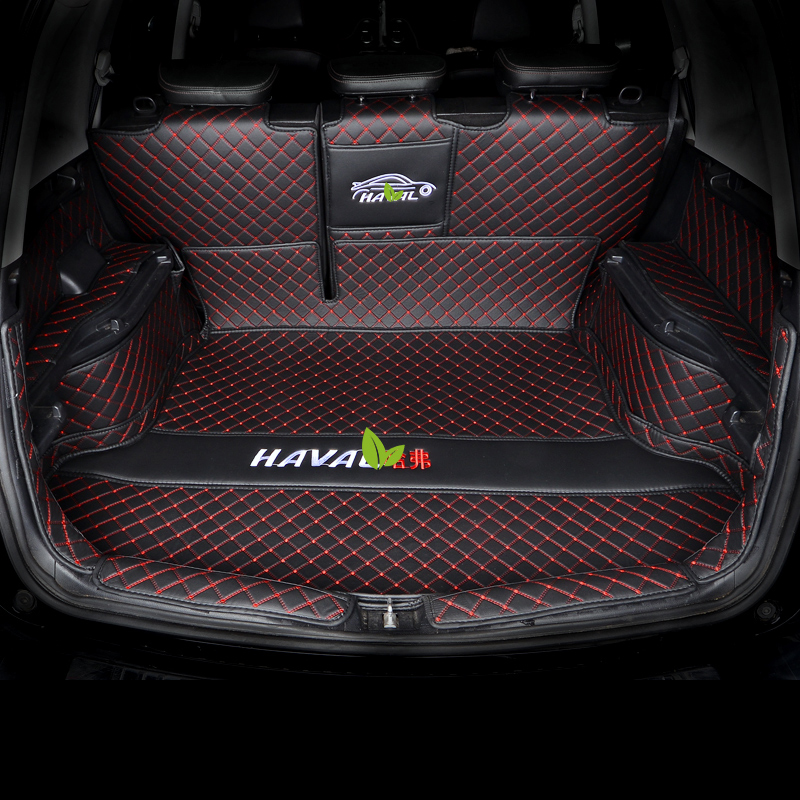 Lsrtw2017 For Great Wall Haval H6 Leather Car Trunk Mat Cargo Liner 2011 2012 2013 2014 2015 2016 2017 2018 M6 Accessories Cover
