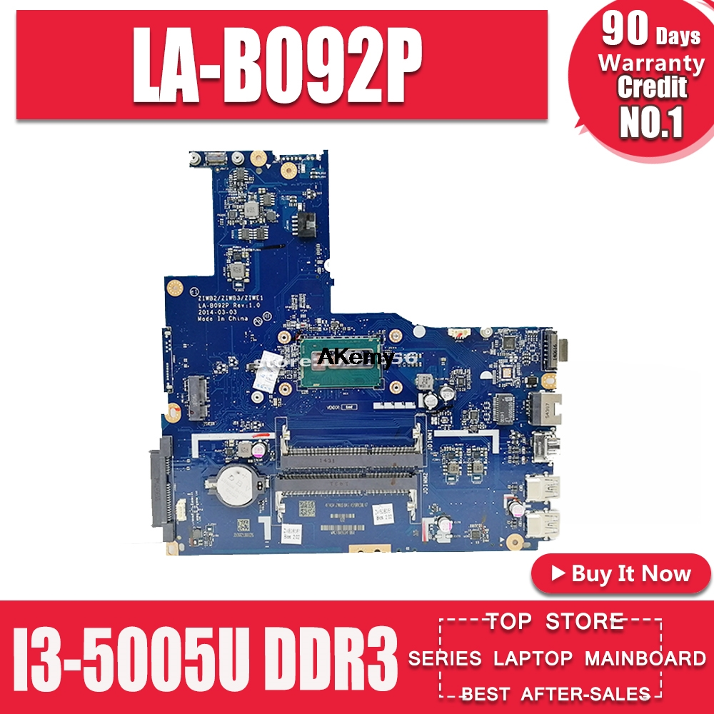ZIWB2/ZIWB3/ZIWE1 LA-B092P For <font><b>Lenovo</b></font> <font><b>B50</b></font>-70 N50-70 <font><b>B50</b></font>-<font><b>80</b></font> N50-<font><b>80</b></font> notebook motherboard I3-5005U CPU DDR3 100% test work image