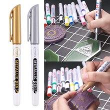 12 Kleuren Goud Zilver Epoxyhars Tekening Pen Goud Leafing Punt Pen Voor Diy Marker Acryl Verf Metallic Permanente Mark