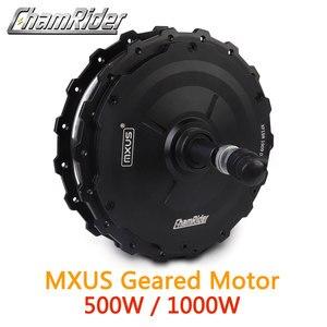 Image 1 - Мотор колесо для электровелосипеда 1000 Вт, мотор ступица 500 Вт, мотор колесо для электровелосипеда MXUS XF19R, задний мотор, мощный водонепроницаемый разъем