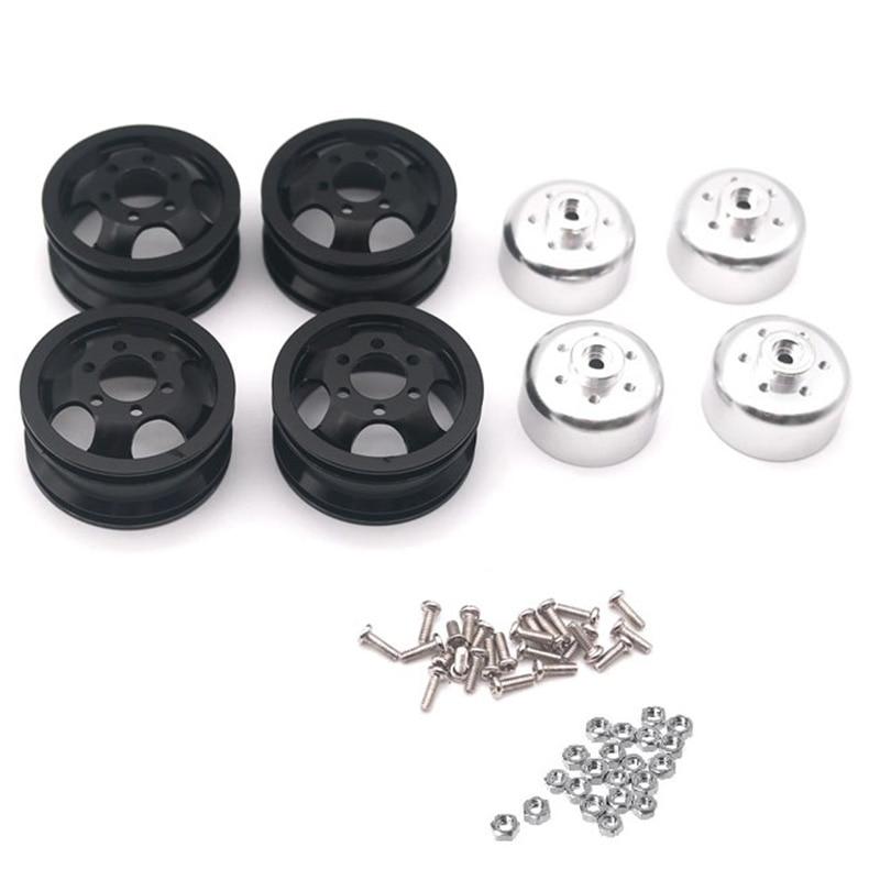 Upgrade Metal Wheel Rim Kit Wheel Hub for WPL B1 B-1 B14 B-14 B16 B-16 B24 B-24 C14 C-14 B36 with Screws RC Truck RC Car Parts,B