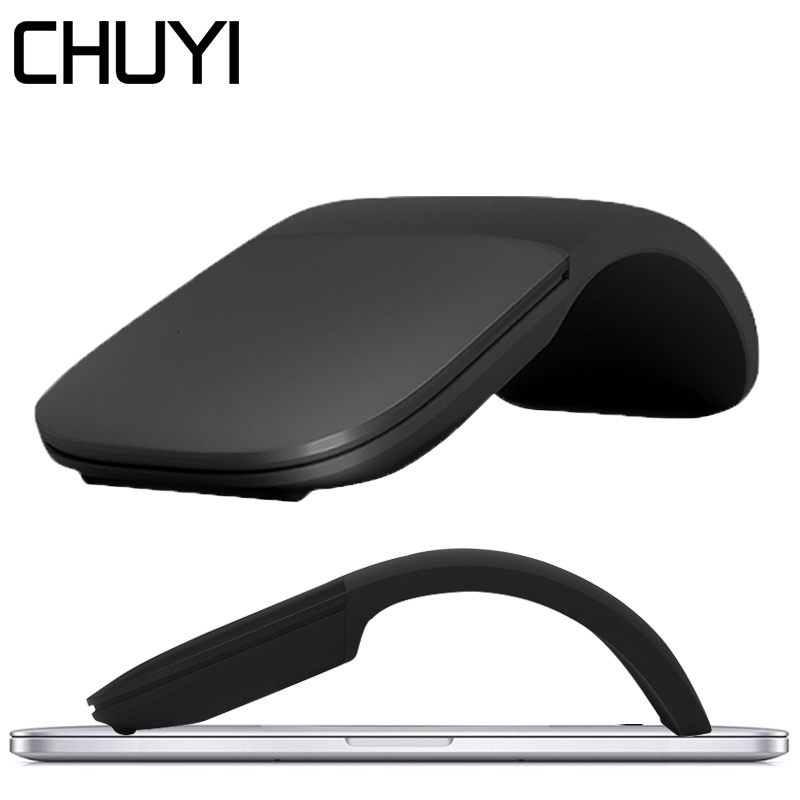 CHUYI Silent Wireless Computer Mouse Arc Touch Roller USB Mice Ultra Thin Laser Gaming Foldable Mause For Microsoft PC Laptop