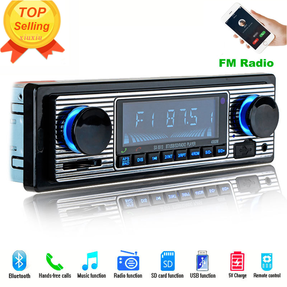 radio car cassette player U-disk auto Vehicle Stereo Retro Machine Bluetooth Electronics Audio