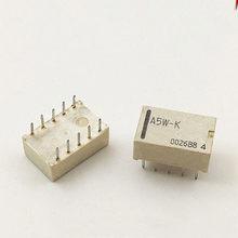 10 pçs/lote Relé A5W-K A12W-K A24W-K 5VDC 12VDC 24VDC 10-pin 5V 12V 24V DIP-10