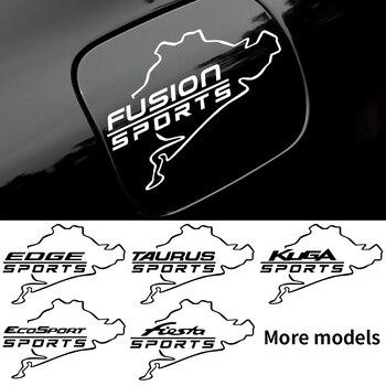 Tapa de tanque de combustible de coche decoración pegatinas para Ford Fiesta Ford Mondeo ST fusión Mustang Explorer Escape Shelby borde Ecosport Kuga Taurus Ghia