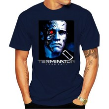 Terminator destino escuro filme fyegger T-800 modelo 101 camiseta preto 2021 tempo libero moda T-shirt 100% cotone